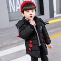 男童羽绒棉衣新款韩版加厚外套小童冬装棉袄小孩冬天衣服 棉衣黑色 90码(适合身高85cm左右)