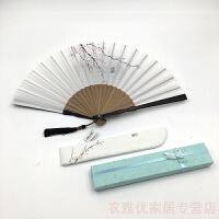 201907011259219142019新品 创意古风折扇女式小巧随身折叠扇中国风扇子夏季手工礼品工艺扇竹