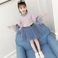 2019新款洋气套装儿童网纱裙套裙韩版潮衣纱裙两件套女童春装