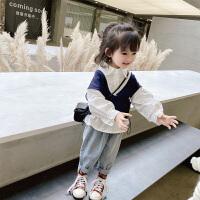 女童套装潮童装小童洋气秋装儿童时髦女宝宝两件套