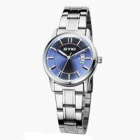 艾奇(EYKI)商务休闲情侣手表 时尚日历复古钢带石英手表 简约表盘女士手表 8616
