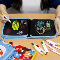 儿童画板涂鸦写字白板便携双面宝宝小黑板可擦涂鸦绘画本家用幼儿