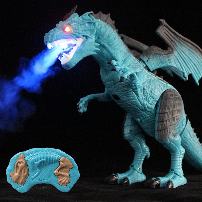 【喷雾飞龙】超大号恐龙玩具霸王龙遥控电动儿童仿真动物喷火模型