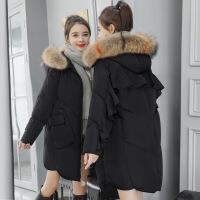 冬季新款女装棉袄外套中长款斗篷韩版时尚百搭棉衣羽绒潮 黑色 M