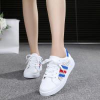 运动鞋夏季凉鞋女镂空网纱鞋韩版女学生平底鞋休闲鞋小白鞋