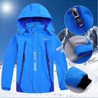 男童加绒外套男童冲锋衣2018新款中大童三合一可拆卸儿童装加厚冬款加绒外套MYZQ82
