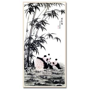 中国书画家协会常务理事、中国标准草书研究院副院长 欧阳国德《国宝图》