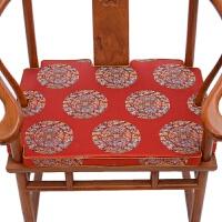 红木家具沙发垫 中式实木海绵垫圈椅太师椅垫凳子餐椅垫定做