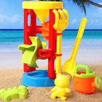 儿童沙滩玩具大号沙漏套装 宝宝戏水洗澡决明子挖沙工具
