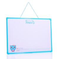 卓峰学生白板(50×35)ZF9003(赠送白板檫\白板笔\3个磁扣)颜色随机写字板家用教学书写板磁性大小公告栏当当自