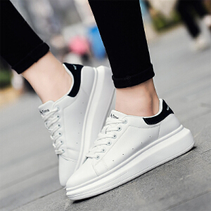 奥古狮登2018春季新款小白鞋女鞋厚底板鞋运动休闲鞋关晓彤同款松糕鞋韩版鞋子女