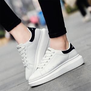 奥古狮登春秋季新款小白鞋女鞋厚底板鞋运动休闲鞋景甜同款松糕鞋韩版鞋子女
