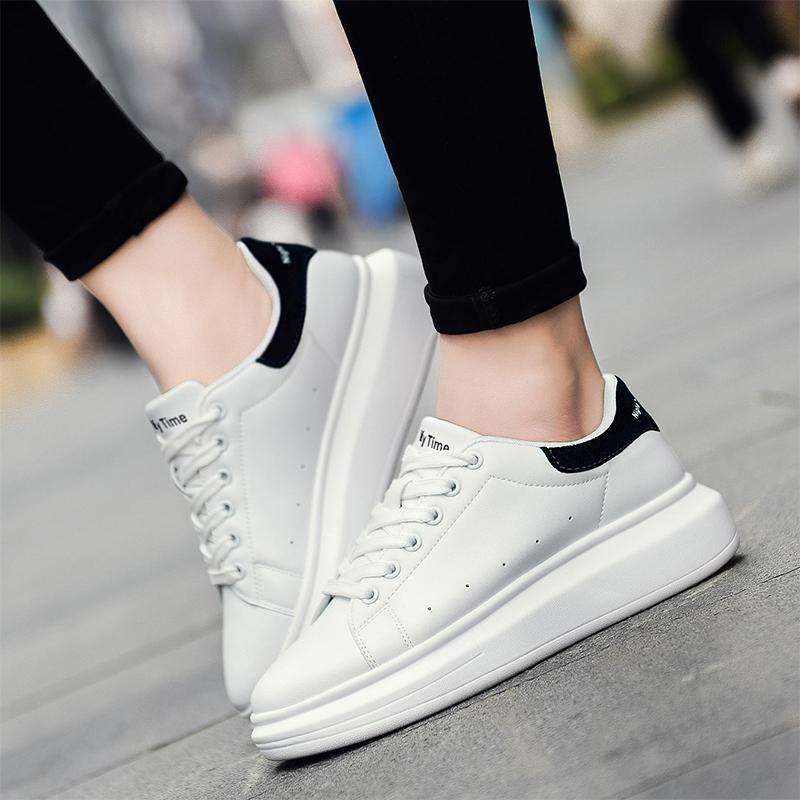 奥古狮登2018春季新款小白鞋女鞋厚底板鞋运动休闲鞋景甜同款松糕鞋韩版鞋子女