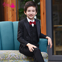 花童礼服男孩钢琴表演西服儿童西装主持人燕尾服男童演出服套装