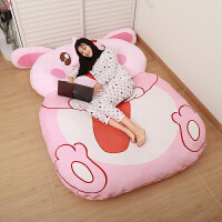 新品创意龙猫床懒人沙发床单双人12生肖卡通榻榻米床垫可爱卧室小沙发定制
