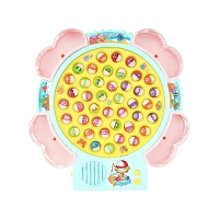 儿童磁性钓鱼玩具 可充电版宝宝早教益智小孩电动钓鱼机鱼池3-6岁