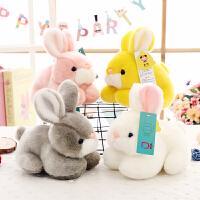 儿童生日礼物女孩 小兔子毛绒玩具仿真兔兔公仔白兔布娃娃玩偶