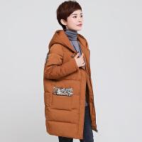 妈妈冬装外套40-50岁2018冬新款中老年棉衣女加厚中长款羽绒
