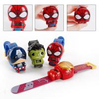 儿童玩具手表复仇者联盟钢铁侠绿巨人蜘蛛侠美国队长公仔变形玩具 手表