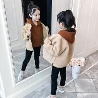 2019秋冬季新款韩版童装加厚洋气卫衣外套女童秋装套装儿童两件套