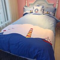 纯棉儿童床上用品四件套全棉被套男孩床单1.2米床三件套1.5m1.8米