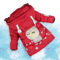 儿童男童棉衣2017新款宝宝冬装童装冬季男婴儿棉袄外套中长款