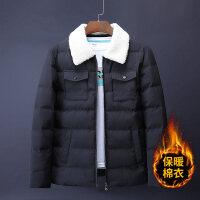 棉衣男士冬季外套韩版修身短款冬装潮流2018新款加绒加厚棉袄