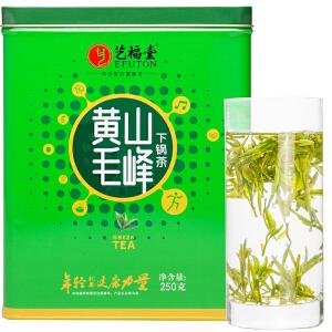 艺福堂绿茶 雨前新茶开库茶 春茶 黄山毛峰 下锅茶 250g/罐