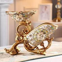欧式红酒架摆件客厅酒柜奢华装饰品高脚红酒杯架创意多功能酒瓶架