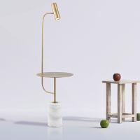 【品牌特惠】简约卧室床头落地台灯ins风创意个性艺术灯具带置物架北欧落地灯