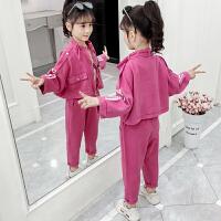 2019春秋季新款儿童洋气童装女孩韩版两件套女童秋装套装