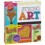 String Art 英文原版Klutz 丝线艺术 女孩创意手工DIY 亲子互动益智活动图书