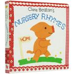 Clare Beaton's Nursery Rhymes 英文原版 触摸纸板书 Barefoot 英文童谣 儿童绘本
