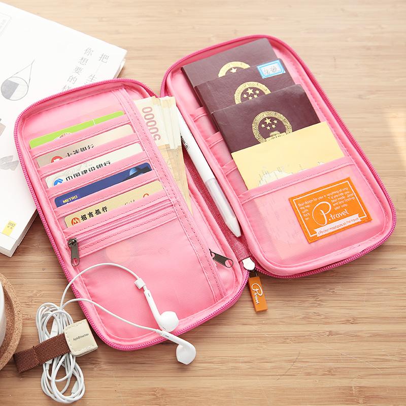 护照包机票夹保护套女ins旅行非收纳卡包出国多功能袋证件包