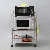 2019新品新品厨房用品304不锈钢微波炉置物架3层4层烤箱架子落地收纳货架