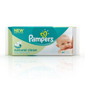 [当当自营]帮宝适 自然纯净系列婴儿湿巾 湿纸巾64片