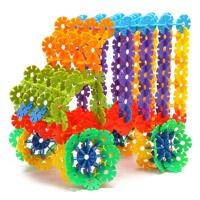 橙爱330片大号雪花片3.3CM 塑料拼插积木 儿童益智玩具 送收纳袋