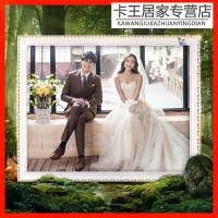 相框24寸�焓� �W式婚�照放大���12寸16 20 24�[�_30��框外框洗照片加相框定制高款O
