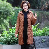 妈妈冬装棉衣女中长款中年时尚大码2018新款秋装棉袄轻薄羽绒