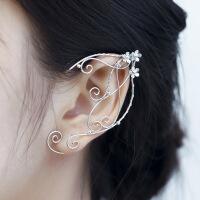 耳夹无耳洞精灵耳饰品 复古风耳挂 仙女森系耳环气质个性耳钉
