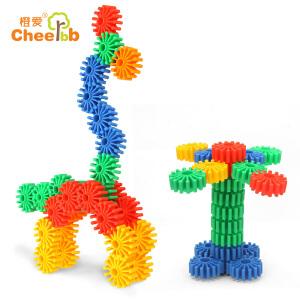 五彩童趣拼拼圈 塑料拼插装建构积木 大雪花 儿童益智玩具