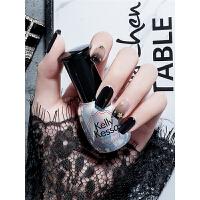 丝袜黑指甲油胶 半透明黑色甲油胶 QQ芭比胶蔻丹胶