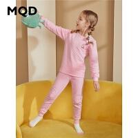 【折后券后�A估�r:82】MQD童�b�和�加厚保暖�纫绿籽b女童秋衣秋�套�b冬季�纫����睡衣