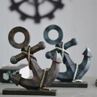 美式乡村摆件 复古树脂船锚做旧桌面摆饰 咖啡厅 特色餐馆酒吧装饰航海船锚模型创意家居