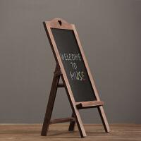 复古做旧实木留言板黑板 咖啡厅酒吧文案展示板特色餐厅服装店会所 粉笔字画板摆件
