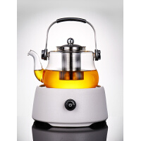 唐丰电陶炉玻璃煮茶套装家用电热茶炉黑茶普洱烧茶壶现代日式茶壶