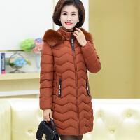 中年女装秋冬装棉衣40岁50加厚羽绒中长款外套妈妈装冬季