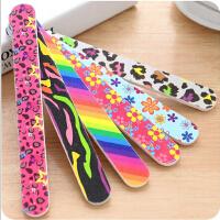 韩国美甲工具时尚印花双面指甲锉 打磨修甲挫条砂条 单条价