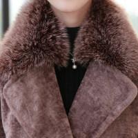 ����羊剪�q大衣女40-50�q中年冬季皮草外套中�L款加厚中老年冬�b
