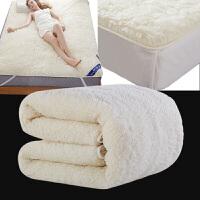 秋上新床褥床垫羊毛澳州纯正羊毛加厚保暖1.5m 毛毡羊羔绒床垫1.8米定制